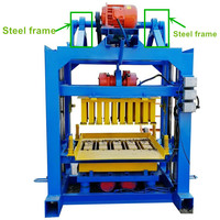 Guanzhou cheap manual hand operated cement hollow concrete block making machine plans in uganda