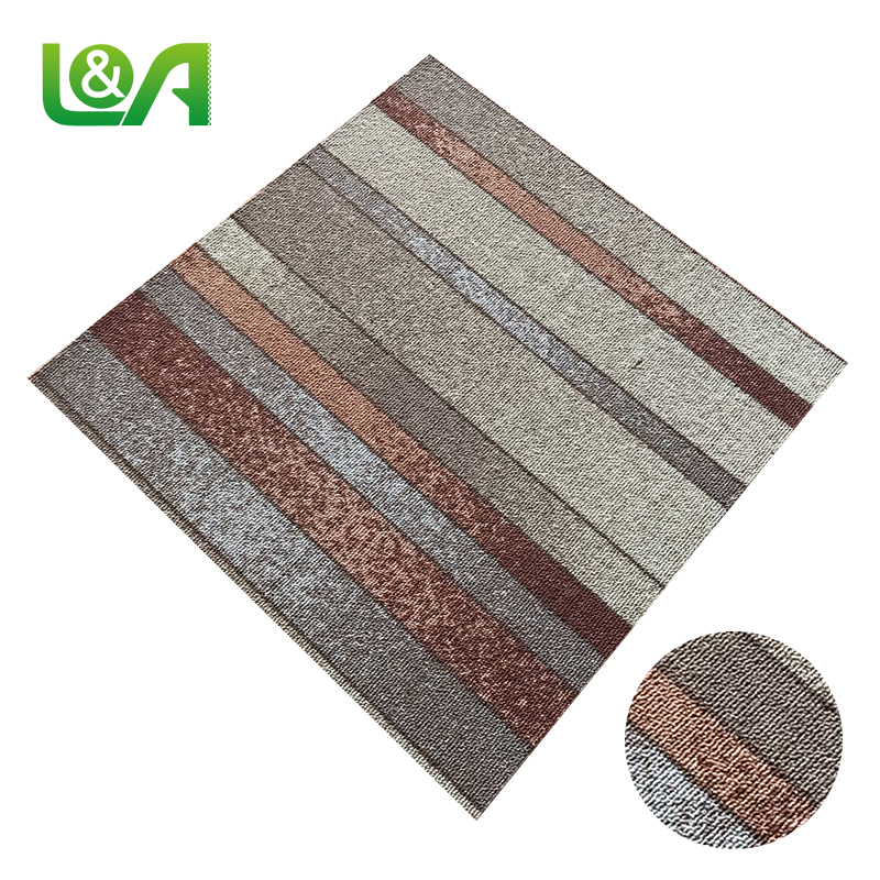 Brown Carpet Tiles Bathroom Cork