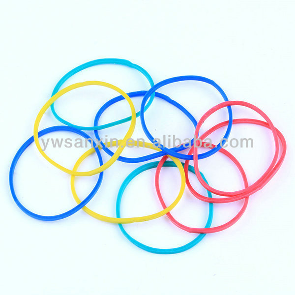 2012 mixed color natural rubber bands for hair