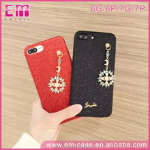 Luxury Crystal Diamond Sun Shine Glitter Bling Pendant PU Leather Soft Back Cover Case For iPhone 7 7Plus