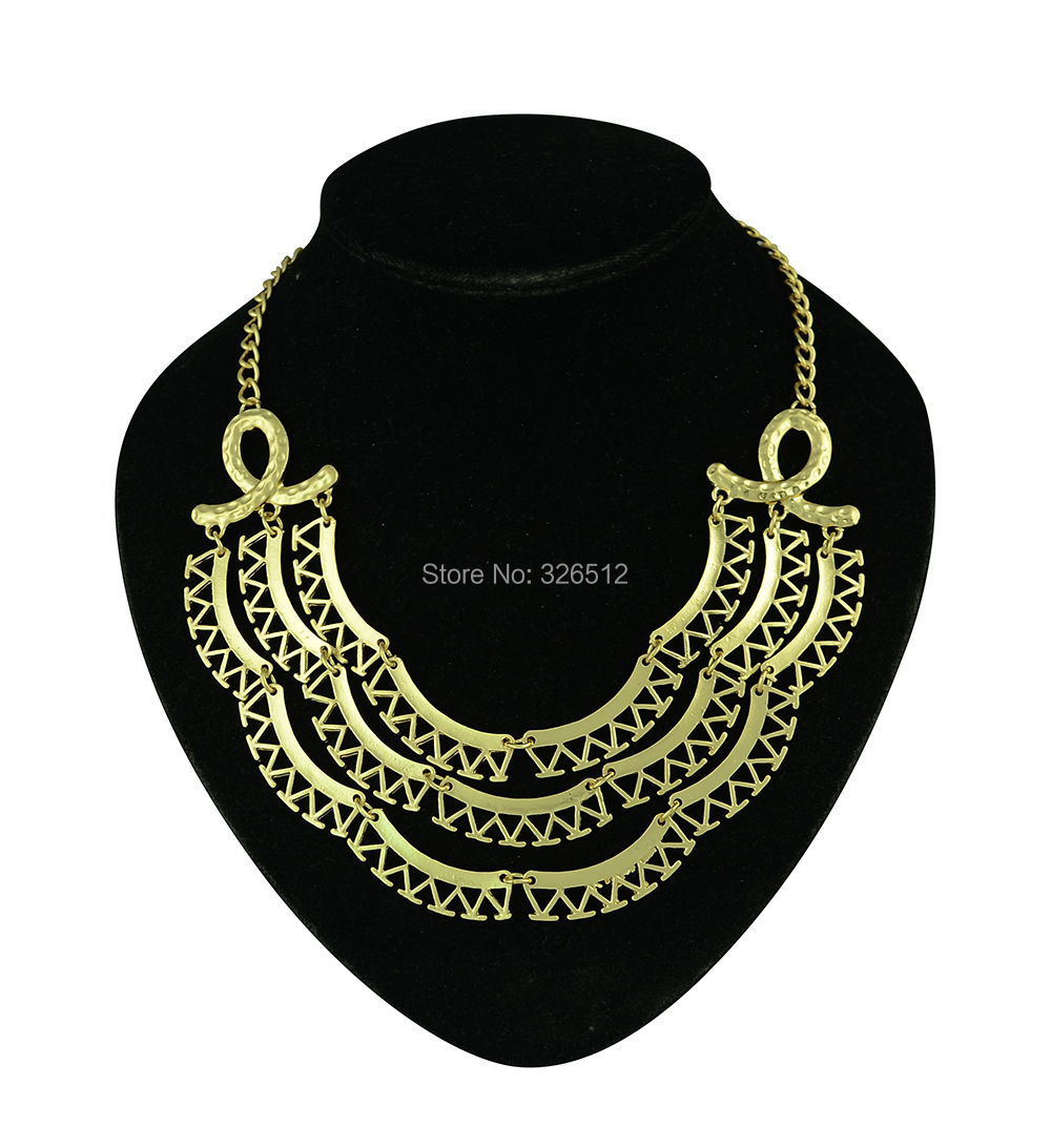 Get Quotations · New hip hop fashion yellow gold multilayer big pendants  necklaces chunky chain choker necklace cheap statement 3594e4a78cc3