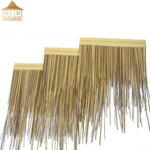 Plastic synthetic thatch roof material
