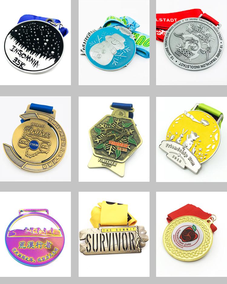 Medalhas comemorativas baratos loja Online china prata antigo rodada em branco esporte medalha de metal personalizado 3d