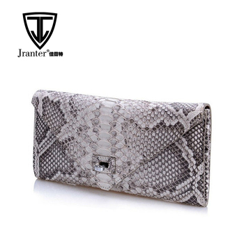 Handmade Fashion Ladies Genuine Python Clutch Snake Skin Purse Made in China