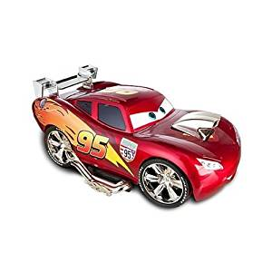 CARS 2 - Lightning Mcqueen Lights & Sounds 15pc Custom Buildable Talking Car Playset