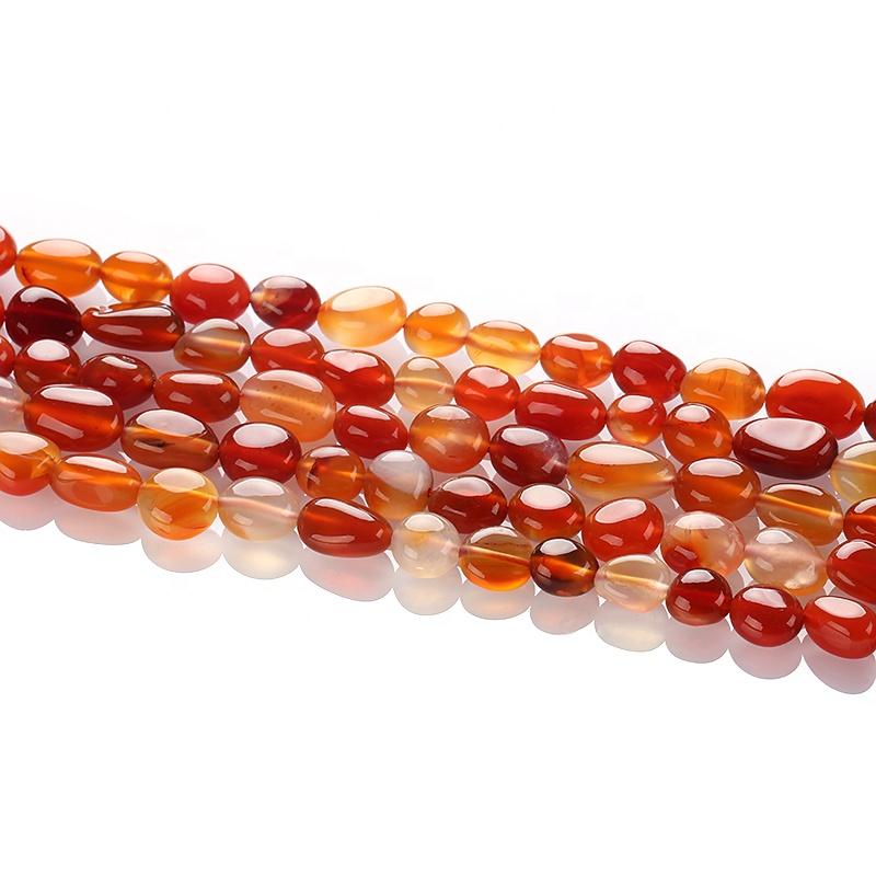 Commercio all'ingrosso Rosso Carnedian di Pietra, Naturale Ovale Agata Rossa Branelli Del Distanziatore