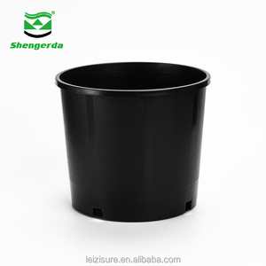 2/3/5/7/10/15/20/25 gallon small garden plant black plastic nursery flower pots