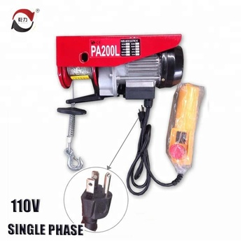 Wireless Remote Control Electric Hoist,Electric Hoist Overhead  Crane,Electric Cable Hoist 110v - Buy Hoist Crane,High Quality Portable  110v Electric