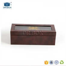 kids toy brown paper gift packaging box with clear PVC window& hot stamping logo for baby shoe