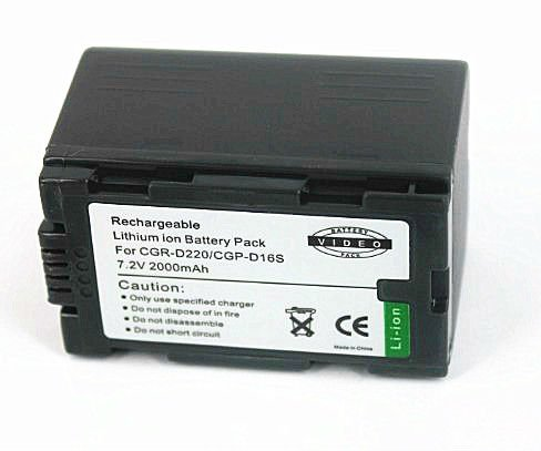 Factory price! Camcorder replacement batteries for Panasonic CGR-D220/D16s