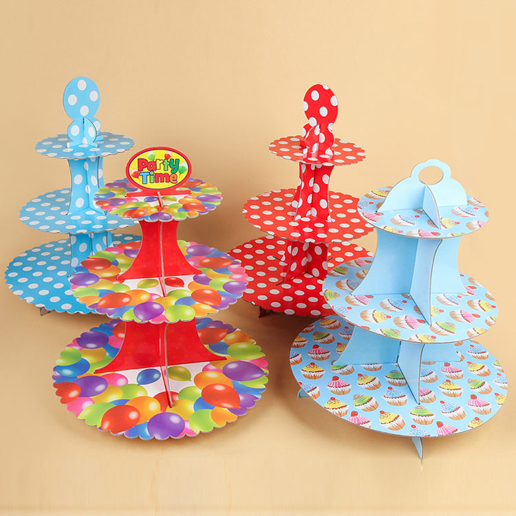 High Quality Many Shapes Multi Layer Origami Child Dress Up Stand For Cake