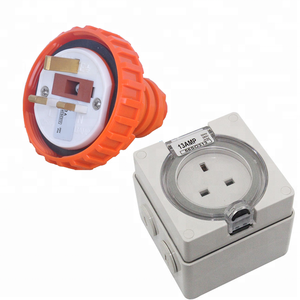 3 flat pin 250V 13A UK standard Industrial Electrical ip68 weatherproof waterproof sockets and plugs for power supply