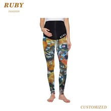 hot selling maternity active clothing printed yoga pants leggings