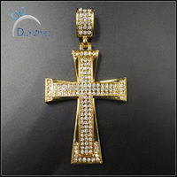 yiwu duyizhao factory custom wholesale fashion cross diamond hip hop pendants