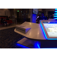 White acrylic checkout counter money counter reception counter for store or supermarket