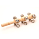 Wood Baby Rattles Manufacture Music Toy Hand Bells