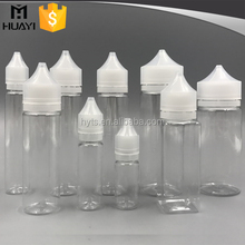 special type different size PET e liquid bottle with cap
