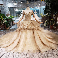 LS20301 Jancember gold designer evening prom dress evening dress special occasions dresses