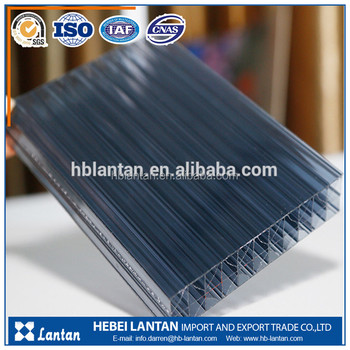 High quality cheap custom multiwall pc polycarbonate honeycomb hollow sheet