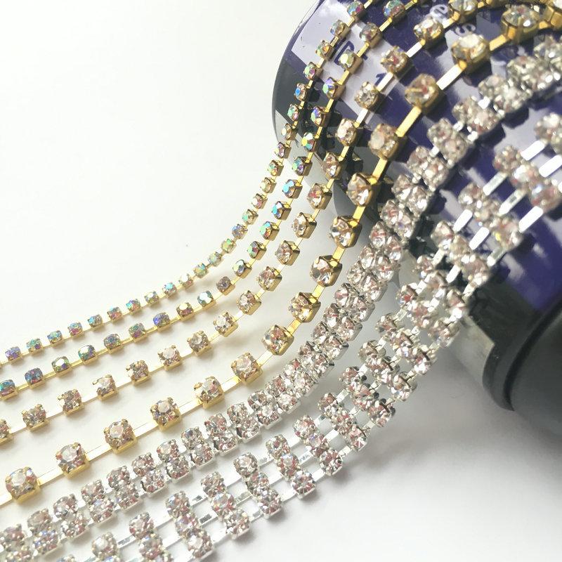 China Metal Crystal Rhinestone Chain f6e3266ca0b0