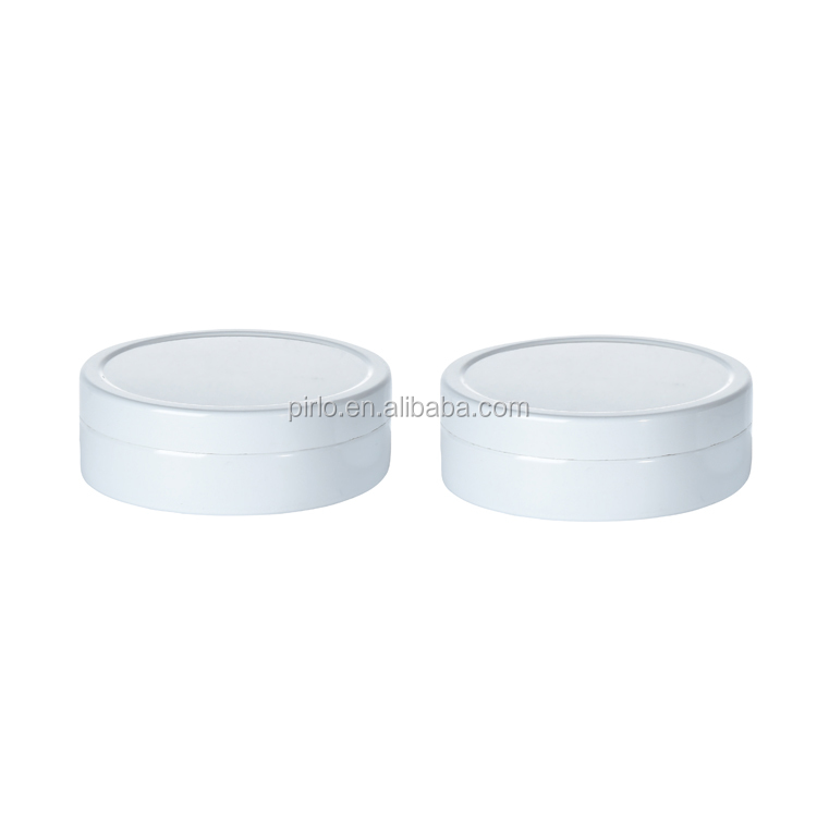 66*22 White Aluminum Jars for Candles Cosmetic Tin Box For Face Cream Lib Balm