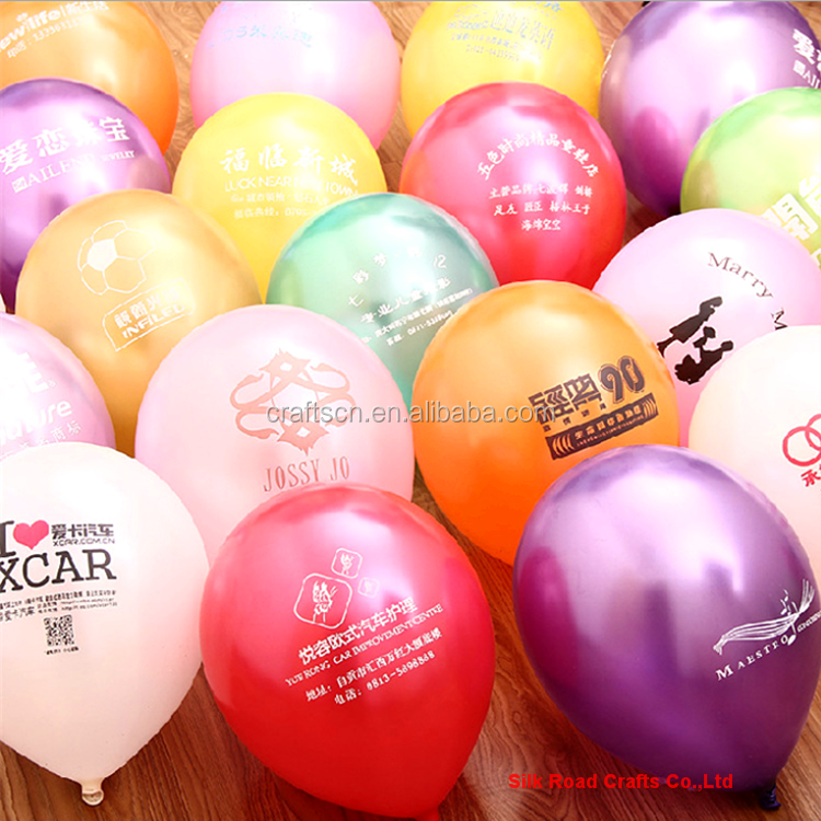 Assorted color advertising balloon with custom logo