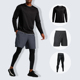 Custom Men Sport Clothes Three-Piece Tracksuit Training & Jogging Top+Leggings+Shorts Fitness Wear Wholesale Sportswear Mens