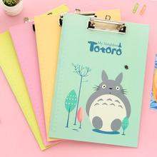 Free shipping Stationery Creative Students Writing Pad Folder Stationery Totoro Folder Art Sketch Drawing ClipBoard