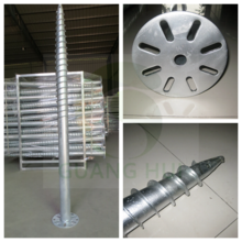 Plastic stainless steel rod krinner ground screws