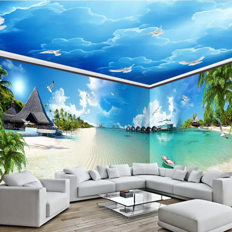 3d Hd 1080p Seascape Scenery The Whole House Mural And The