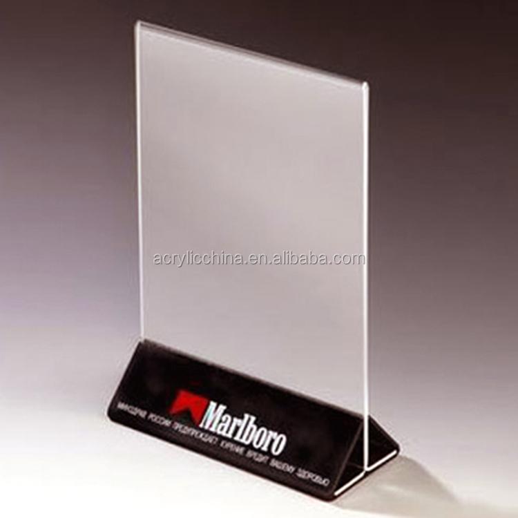 A4 Clear Acrylic Desktop Free Standing Brochure Holder