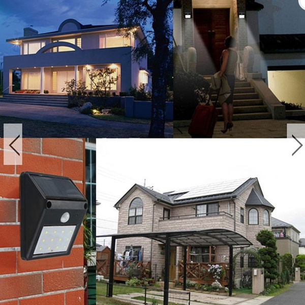 Free Sample Solar Motion Sensor light Outdoor Waterproof Light Outdoor Garden Security Wall Light