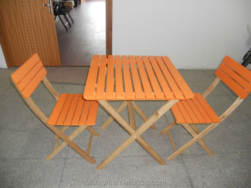 Wooden Folding Garden Table Set,Chair Set,Wooden Bistro Table Set,Bistro  Chair