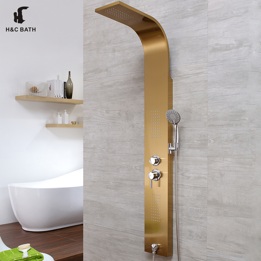 Free Standing Shower Body Jets Shower Column With Water Taps - Buy ...