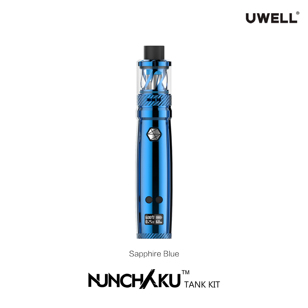 New TC pen style mod Uwell Nunchaku Tank 80W TC Full Kit 2018 Uwell company hottest Round tips glass tank oil vaporizer uwell