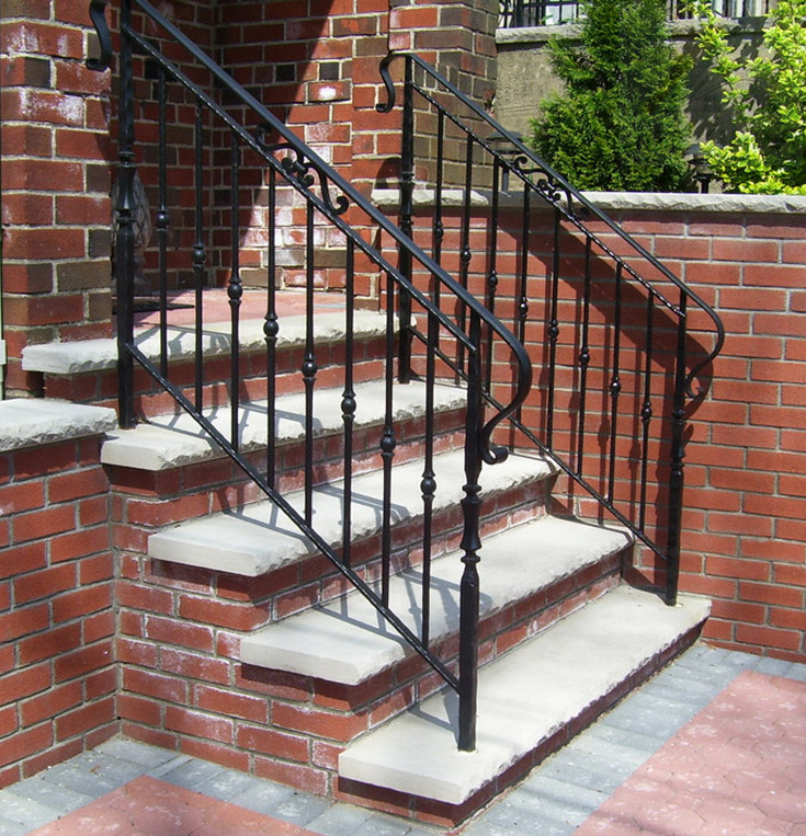 Customized Indoor/outdoor Wrought Iron Balcony/stair ...