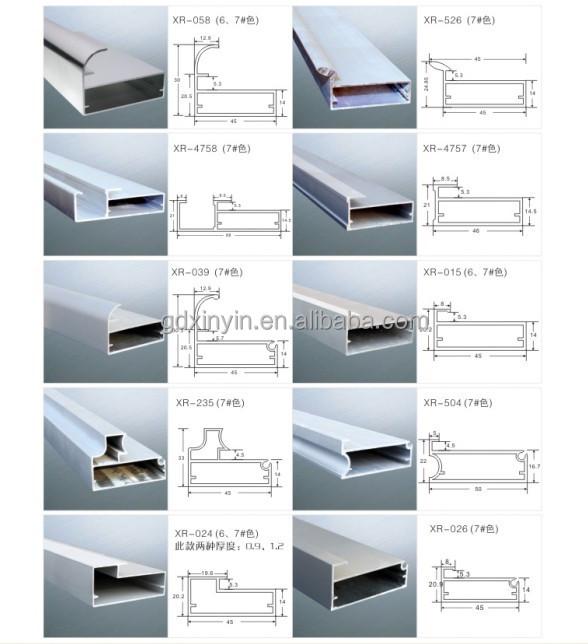 Decorative Aluminium Glass Frame Profile For Cabinet Door