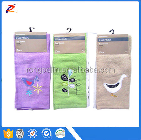 100% Cotton pigment printed cheap kitchen dish towel