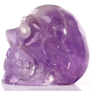 Natural Amethyst Quartz Clear Crystal Skull Wholea Purple Rock For