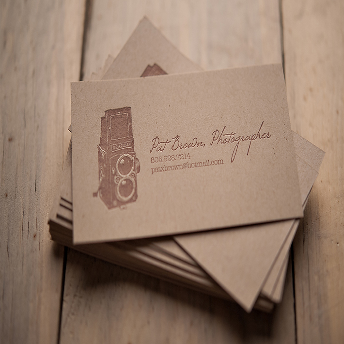 Kraft paper business card with special <strong>printing</strong> manufacture