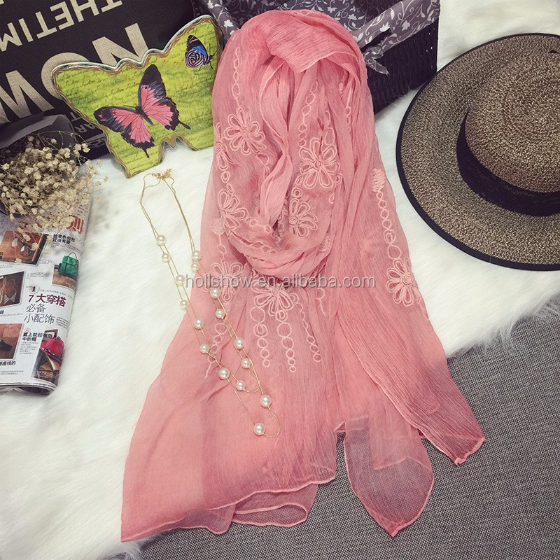 2017 High Grade Soft Chic Women Lady Imitated Silk Scarf