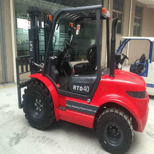2017 New Design 4wd Forklift Truck 4 Tons Rough Terrain Forklift With comptetitive price