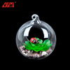 New design handmade hanging glass terrarium with artificial succulent plants