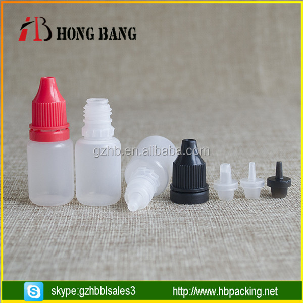 5ml empty pet plastic dropper bottle with tamper ring cap for eye dropper