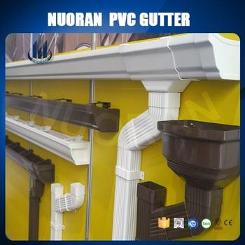 Factory Plastic Gutter Pvc Roofing Rain Gutter System For