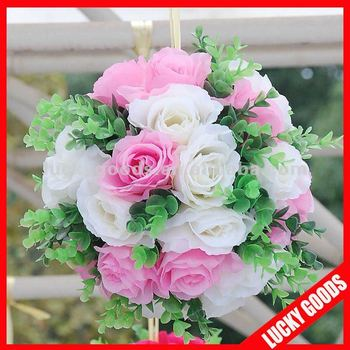 Pink and white wedding ball artificial flower ball for wedding pink and white wedding ball artificial flower ball for wedding decorationhanging flower ball mightylinksfo