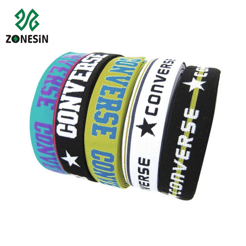 Cheap Price Polyester Material Custom Logo Jacquard Elastic Webbing Tape For Underwear