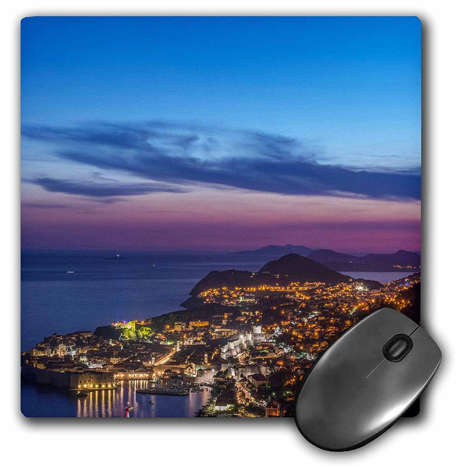Danita Delimont - Croatia - Croatia, Dubrovnik, Looking Down on Dubrovnik Old Town at Twilight - MousePad (mp_228019_1)