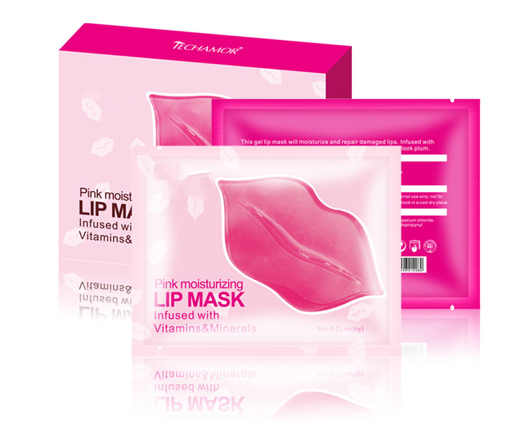 Top selling houden rood roze collageen kristal lip masker