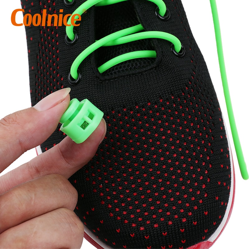 Coolnice Best Lock Shoelaces for Adult and Kids, Running, Climbing, Durable with No Tie Elastic